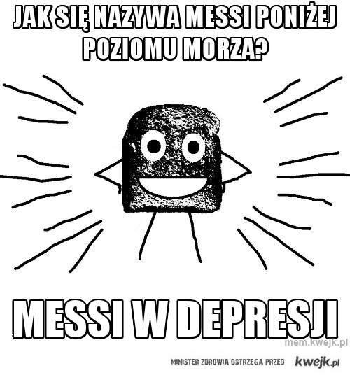 Jak się nazywa Messi poniżej poziomu Morza?