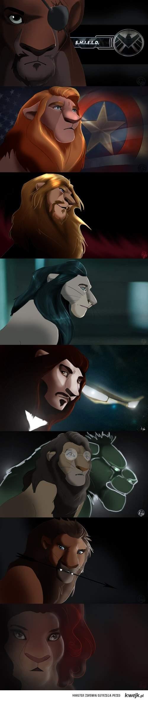 Avengersi z Króla Lwa