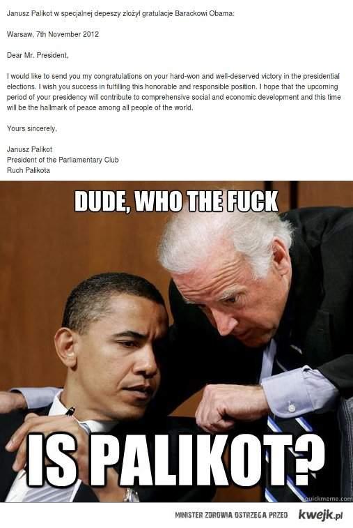 Palikot wysyła list do Obamy