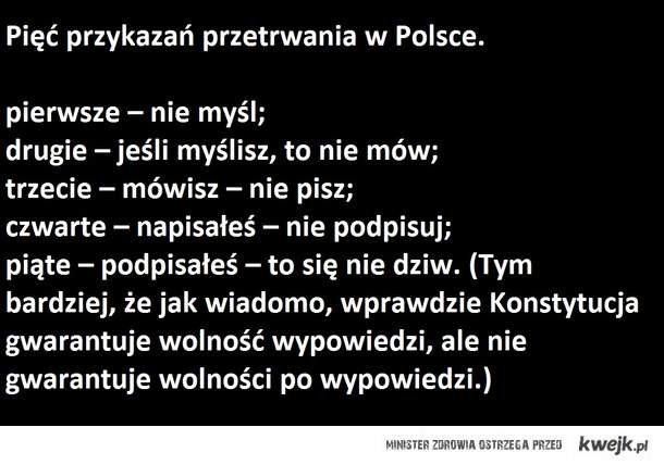 5 zasad przeżycia w Polsce