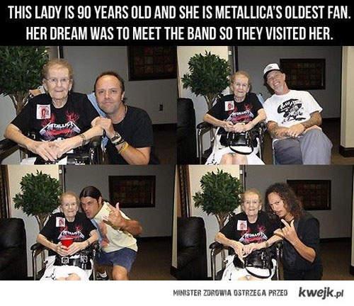 najstarsza fanka metaliki