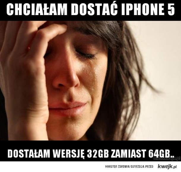 Chciałam dostać iphone 5