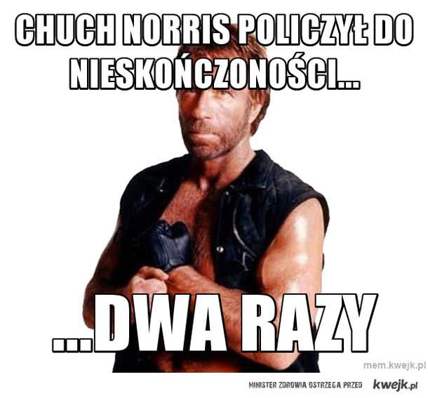 Chuch Norris policzył do nieskończoności...