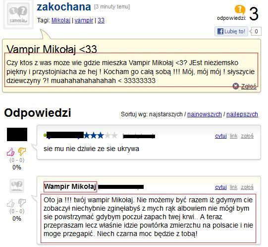 Wampir Mikołaj ;D