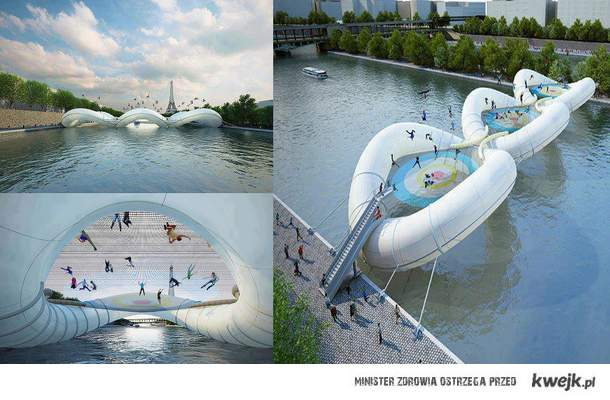 trampolinowy most Paryż