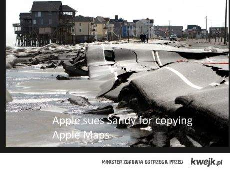 apple pozwał sandy