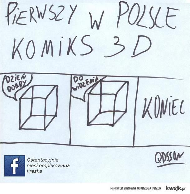 Pierwszy w Polsce komiks 3D