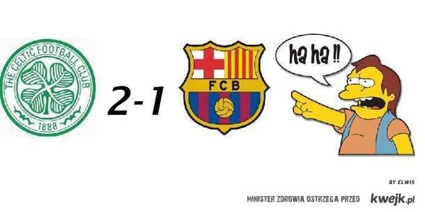 Celtic 2 - 1 barcelona