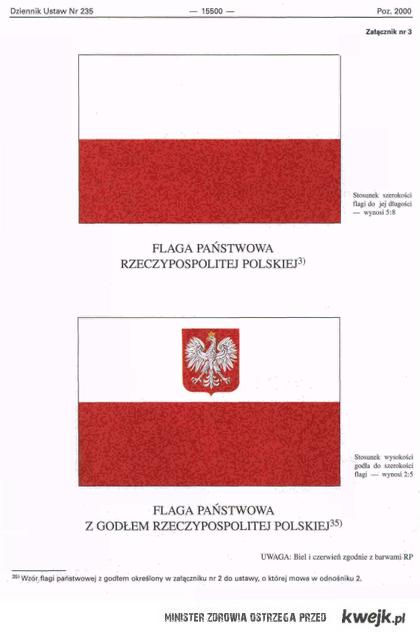 Tak wyglądają nasze flagi państwowe! Nie ma żadnego godła na środku