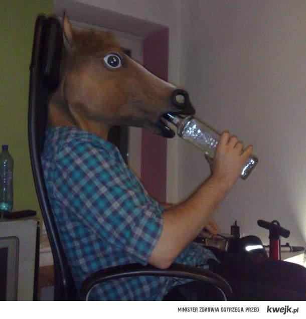 Nie mogę Ci pomóc, piję wódkę