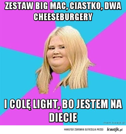 Zestaw big mac, ciastko, dwa cheeseburgery