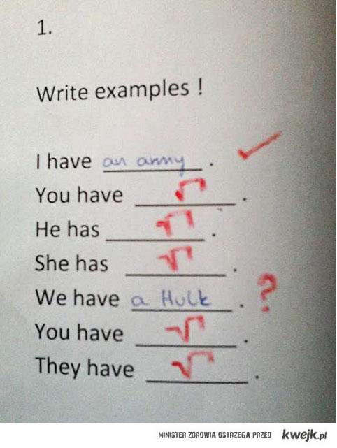 Podaj przykłady