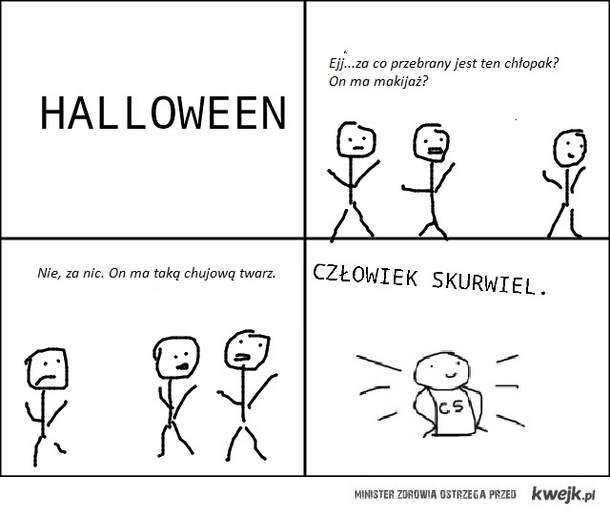 Halloween - człowiek skurwiel