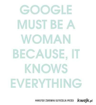google kobietą