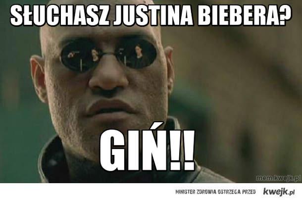 Słuchasz Justina Biebera?