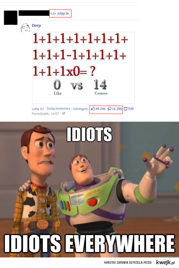 75,18% ludzi to idioci