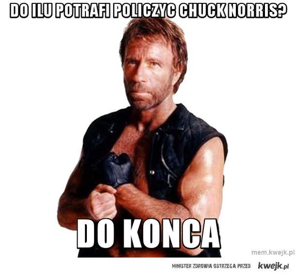 Do ilu potrafi policzyc chuck norris?