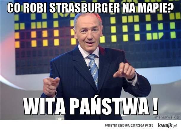 Co robi Strasburger na mapie?
