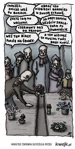 Typowe rozmowy na cmentarzu
