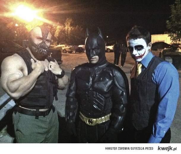 Bane,Batman and joker