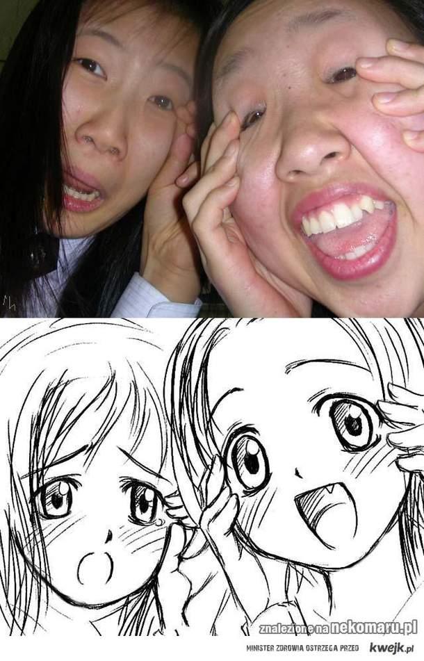 manga vs real