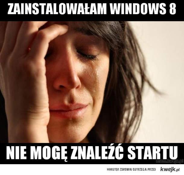 zainstalowałam windows 8