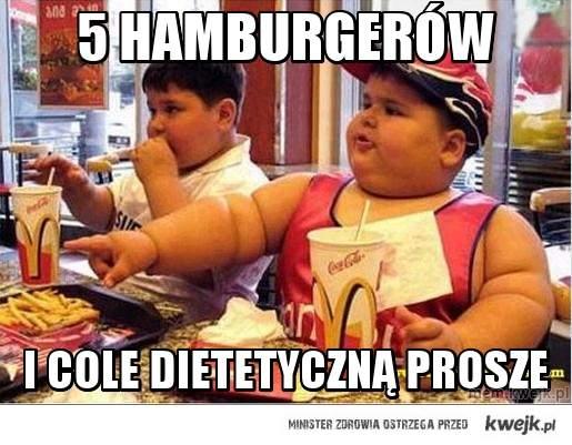 5 hamburgerów