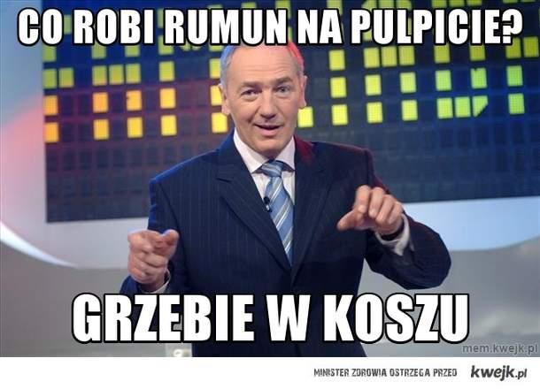 Co robi rumun na pulpicie?