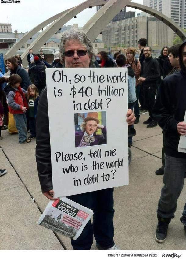swiat jest zadluzony