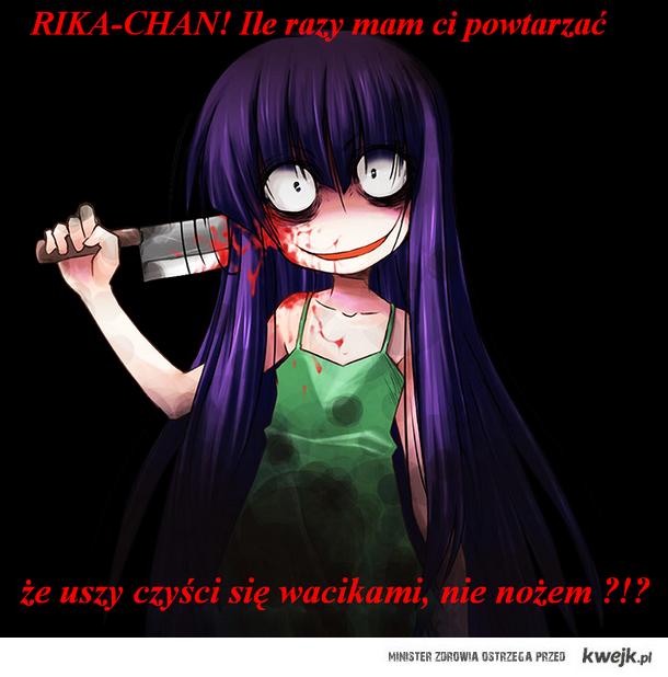 "Na obrazku jest Furude Rika z ""Higurashi no naku koro ni""."