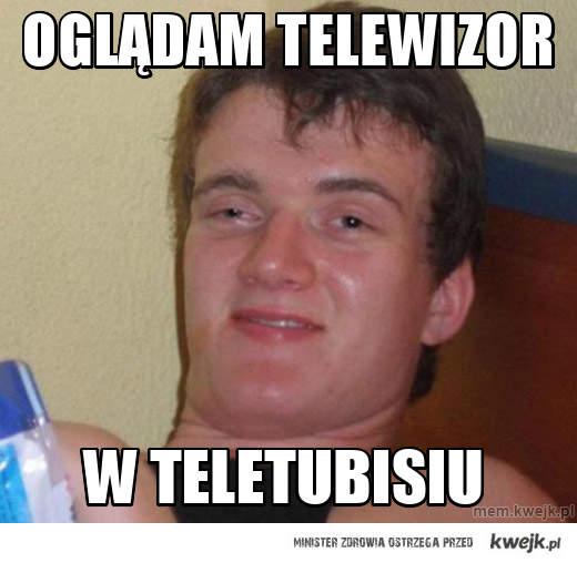 oglądam telewizor