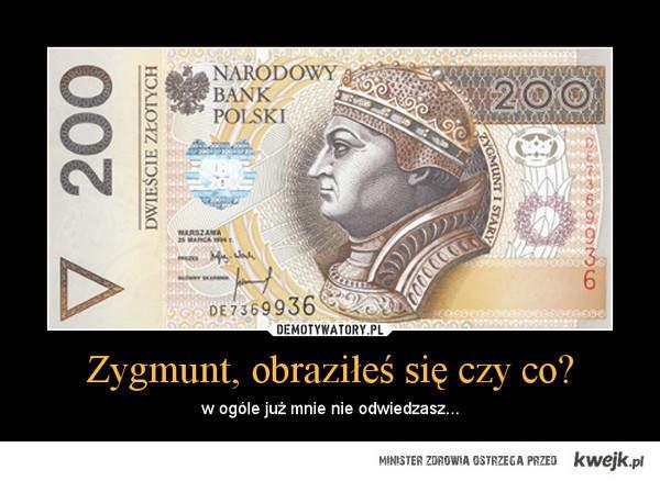 szczera prawda ;p coraz mniej takich banknotów...