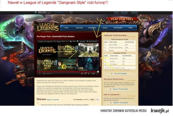 Gangnam Style w League of Legends