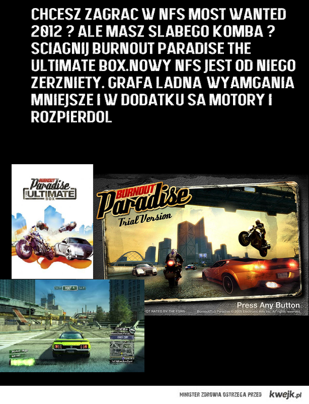 NFS Most wanted 2012 jest taki sam jak burnout