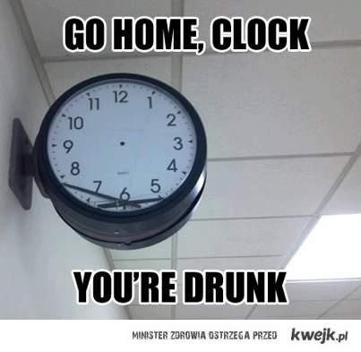 go home clock!