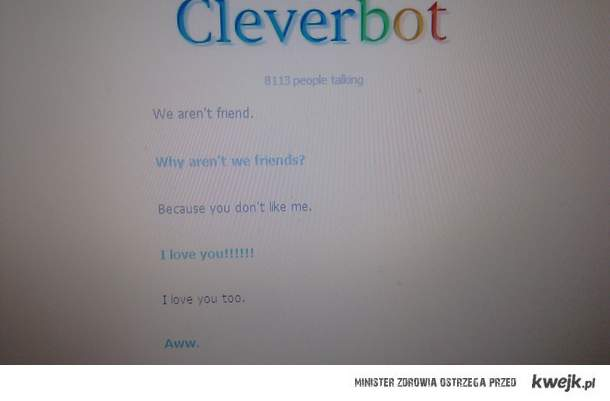 cleverbot - aww