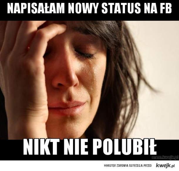 napisałam nowy status na fb