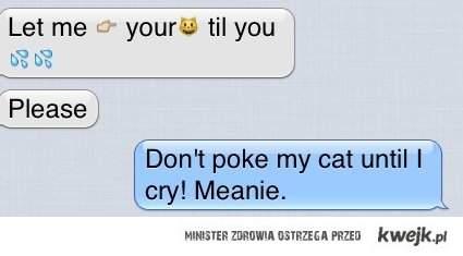 nie pukaj mojego kota