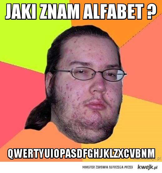 Jaki znam alfabet ?