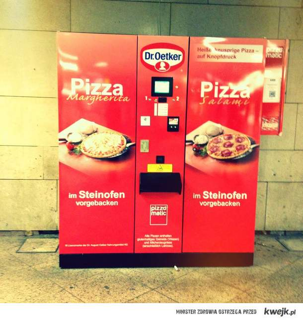 automat z pizzą