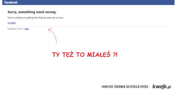 błąd facebook'a