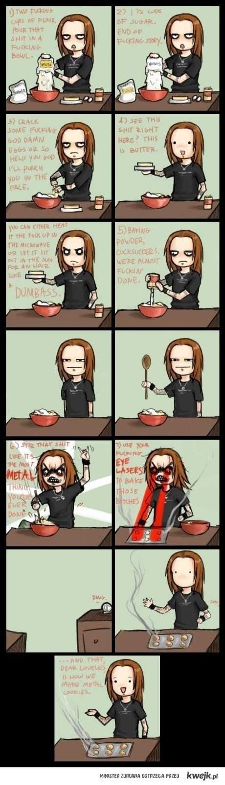 alexi radzi, jak upiec metalowe ciastka