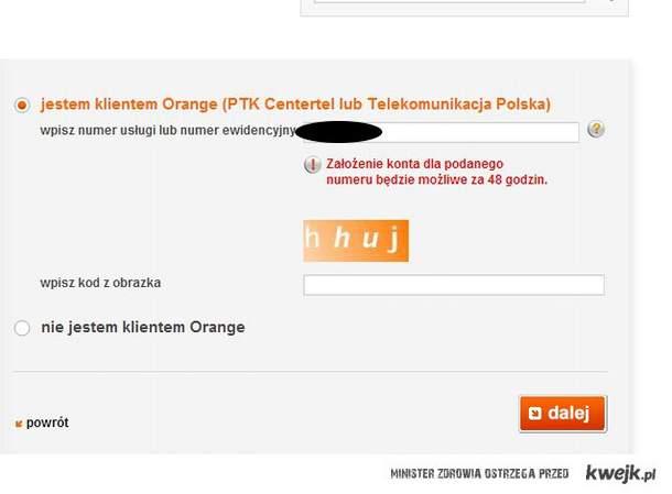 orange odpowiednie do sytuacji