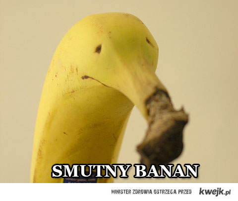 smutny banan