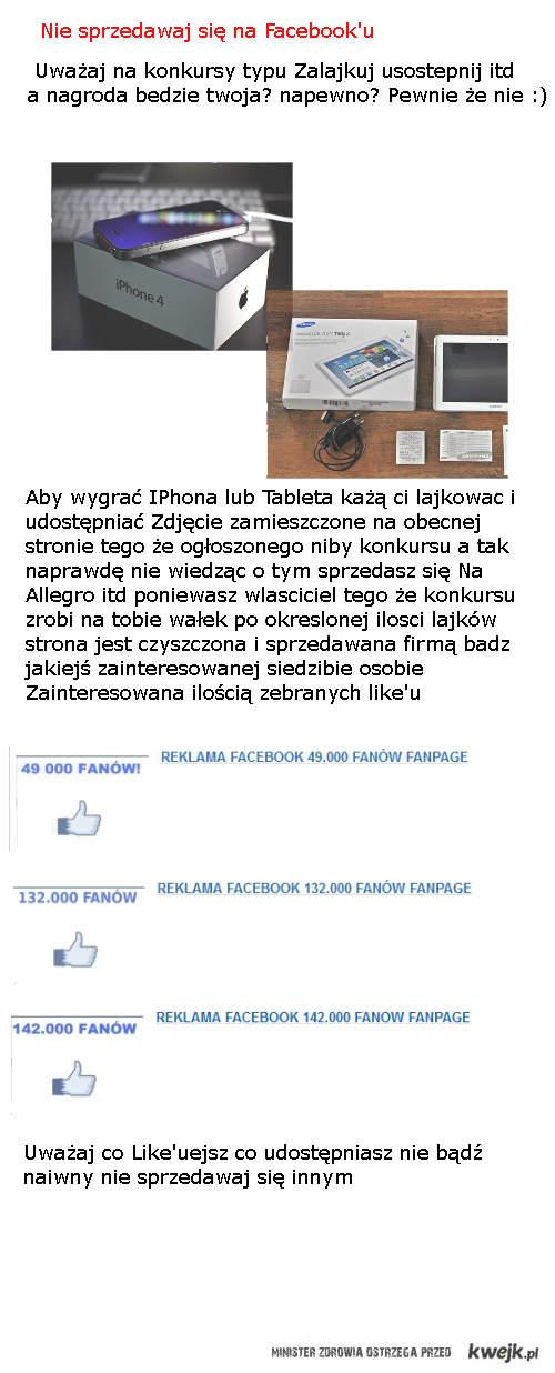 Nie sprzedawaj sie na FB