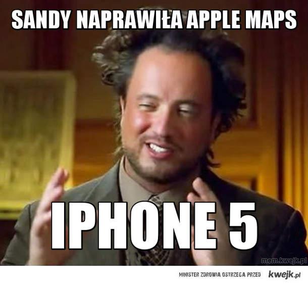 sandy naprawiła apple maps