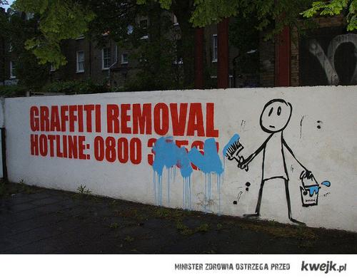 żadnego usuwania graffiti