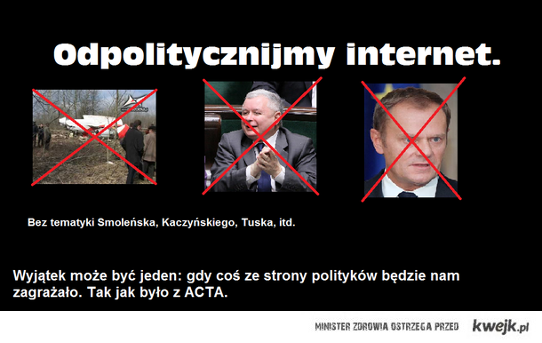 Odpolitycznijmy internet