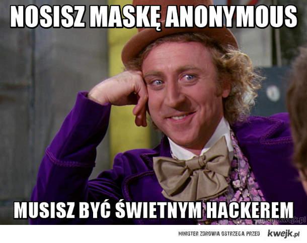 Nosisz maskę Anonymous