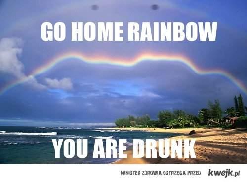 Idź do domu tęczo, jesteś pijana